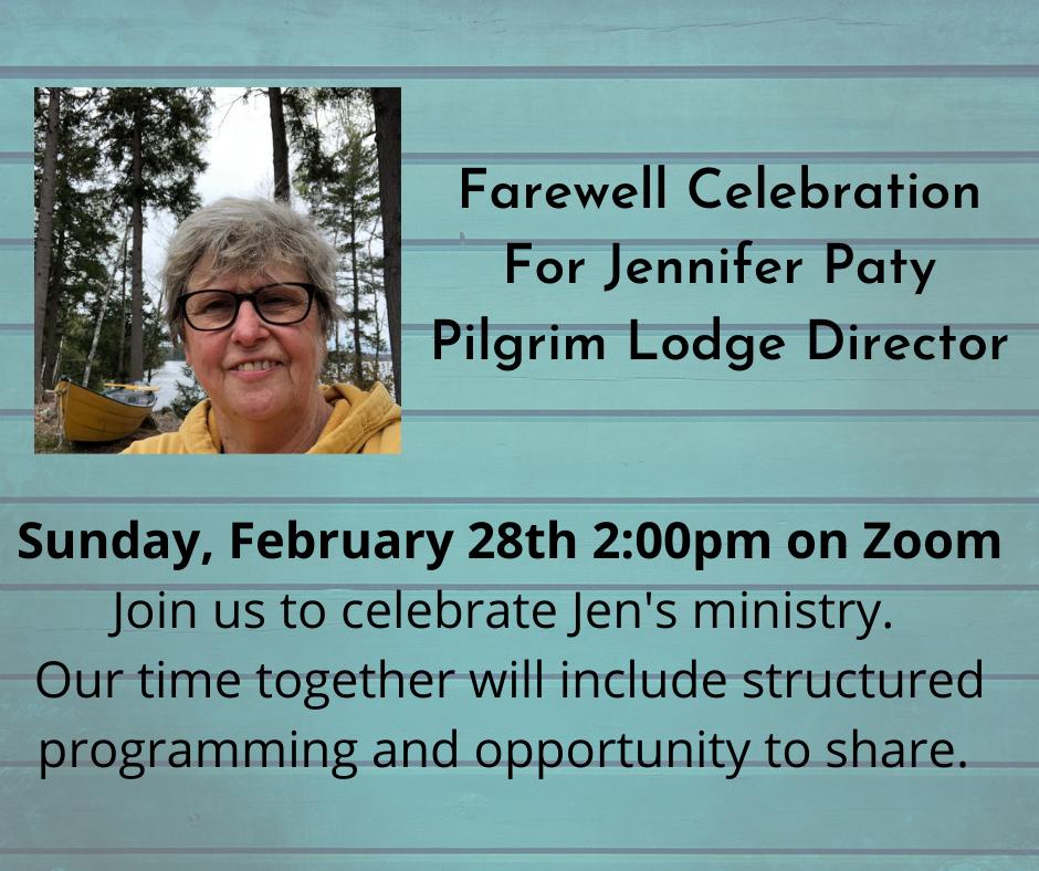 Farewell Celebration for Rev. Jennifer Paty